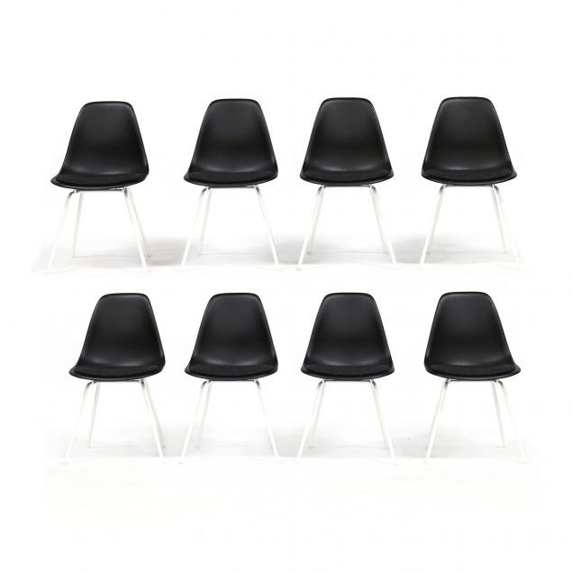 charles-and-ray-eames-set-of-eight-black-shell-chairs