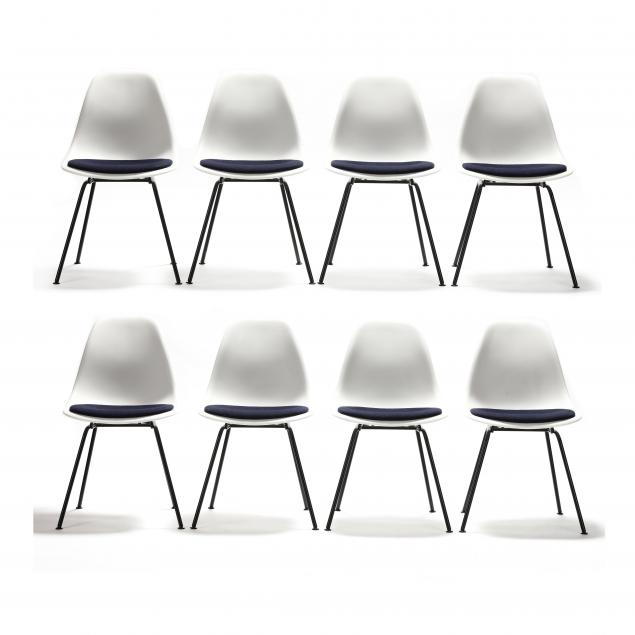 charles-and-ray-eames-set-of-eight-white-shell-chairs