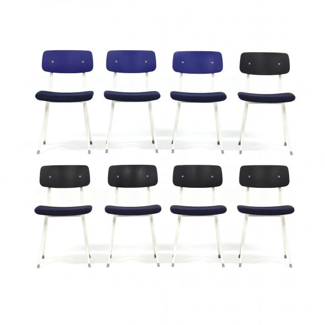 friso-kramer-and-wim-rietveld-set-of-eight-i-result-i-chairs