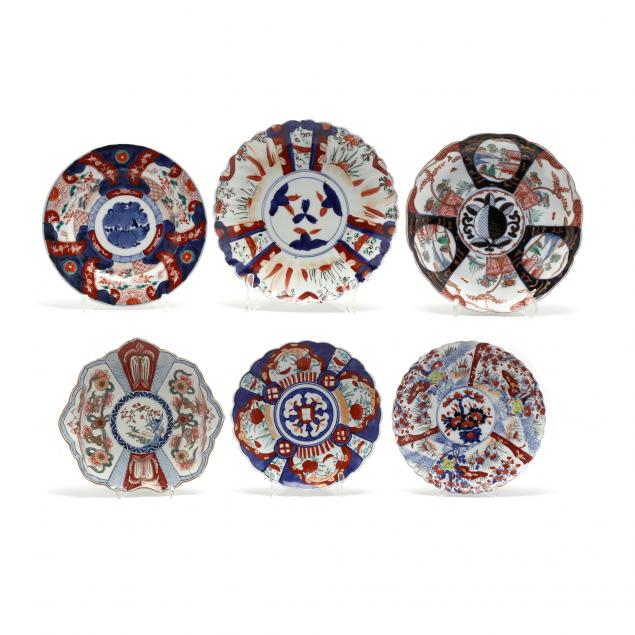 a-group-of-japanese-imari-porcelain-plates-and-chargers