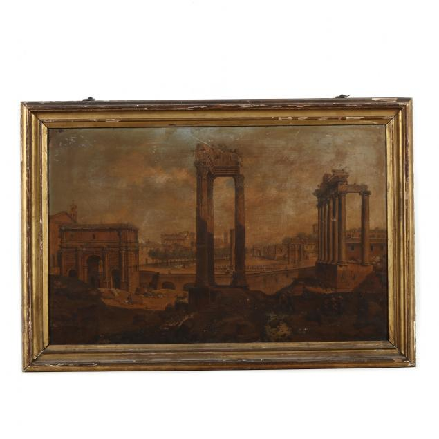 italian-school-mid-19th-century-the-roman-forum-with-laborers