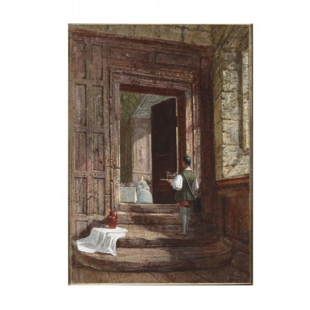 english-school-19th-century-genre-scene-set-in-a-grand-manor