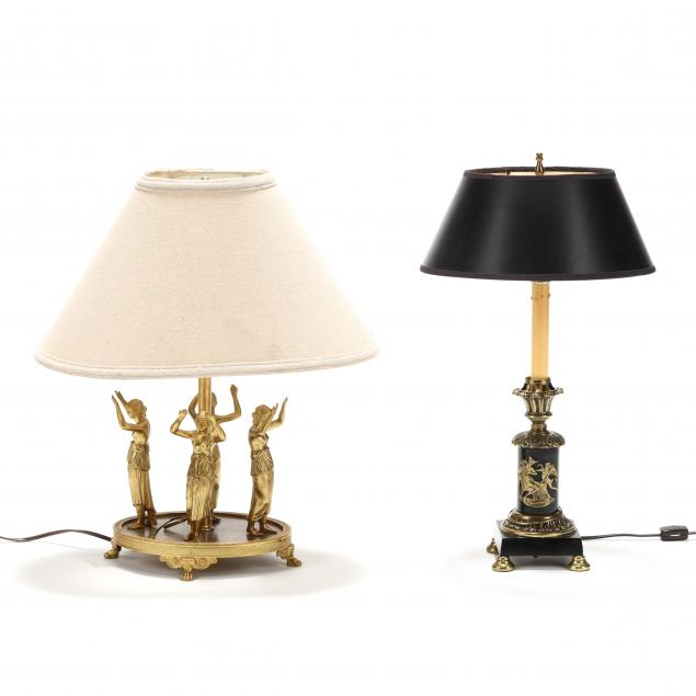 two-neoclassical-style-figural-brass-table-lamps