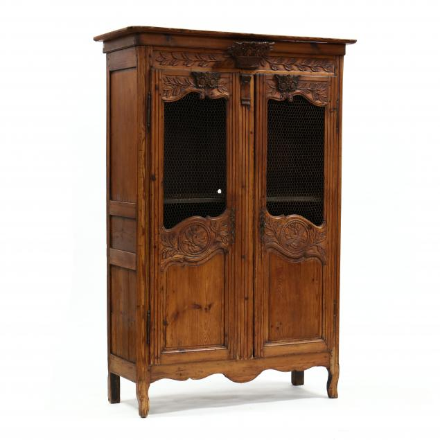 french-provincial-carved-pine-diminutive-armoire