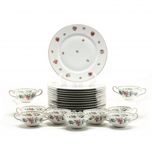 fourteen-german-service-plates-and-nine-english-soups