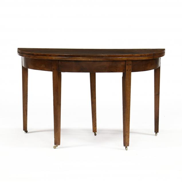 antique-continental-demilune-walnut-game-table