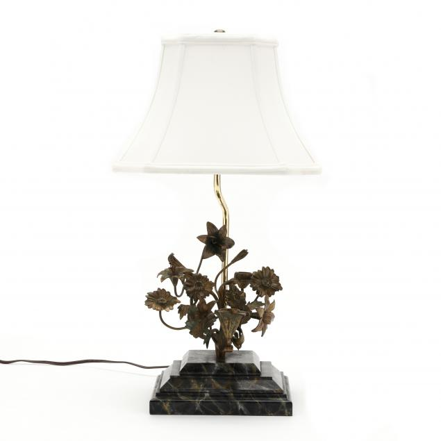 gilt-floral-and-faux-marble-table-lamp