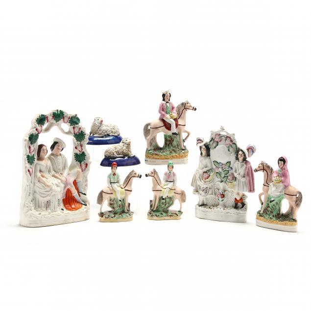 eight-antique-staffordshire-figurines
