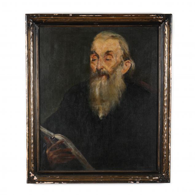 joseph-gionfriddo-italian-american-1907-1978-bearded-old-man-reading