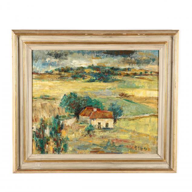 richard-bellias-french-1921-1974-i-houses-in-landscape-i