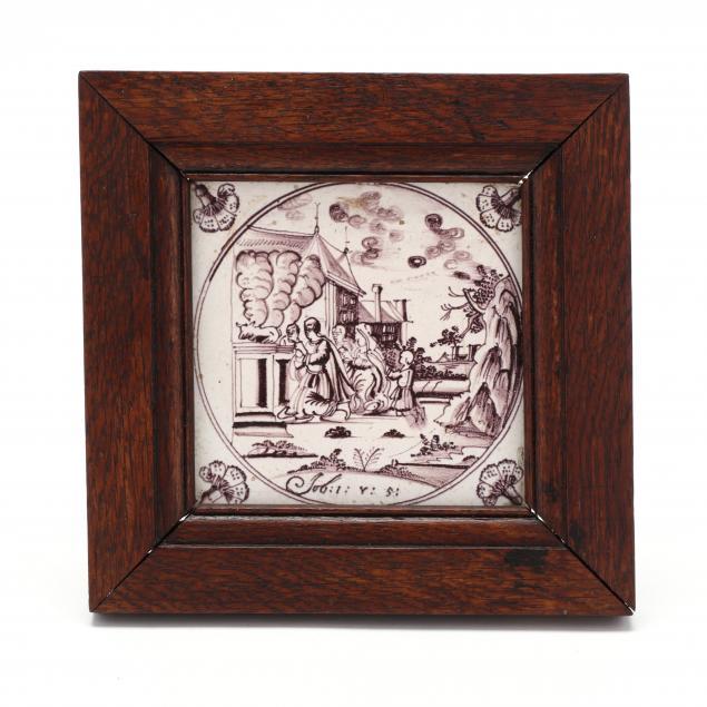 framed-antique-ceramic-biblical-delft-tile