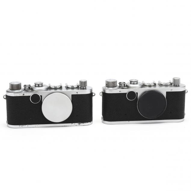 pair-of-vintage-leica-d-r-p-leitz-wetzlar-rangefinder-cameras-each-without-lens