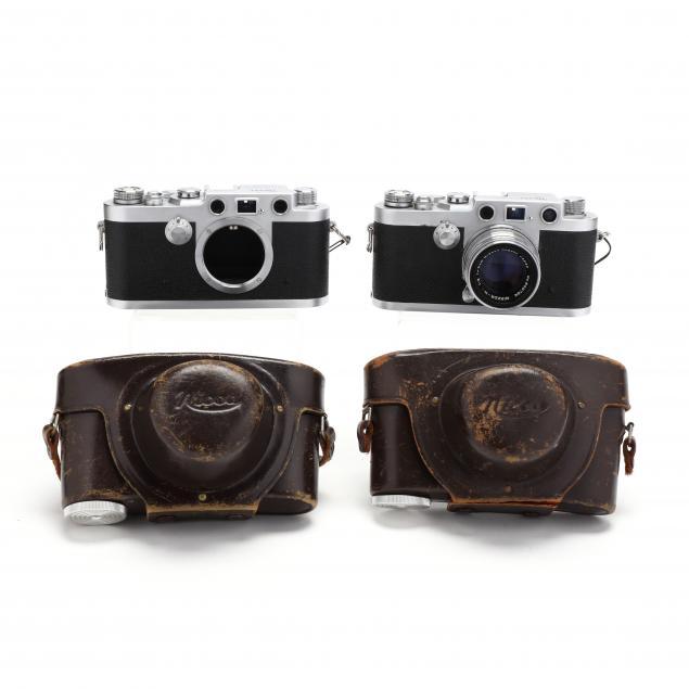 pair-of-nicca-camera-co-3-f-vintage-cameras-one-with-nikkor-lens