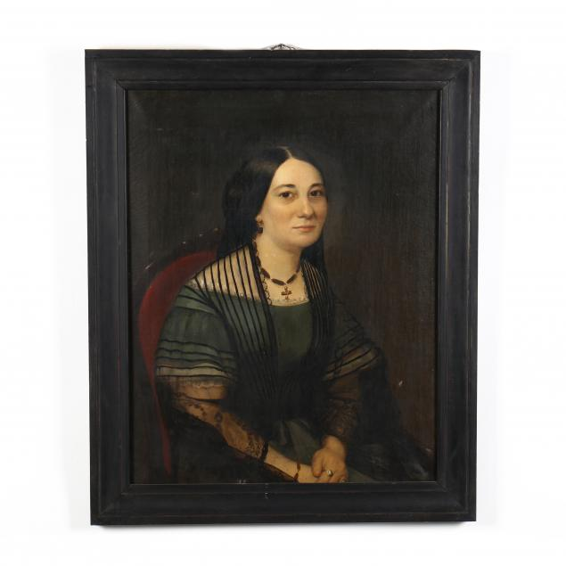 antique-english-school-portrait-of-a-seated-lady