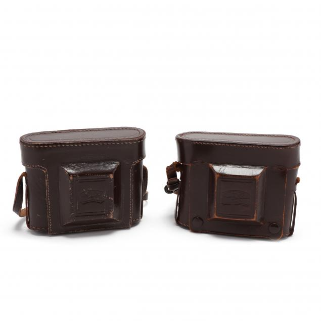 two-vintage-zeiss-ikon-ikonta-521-folding-cameras