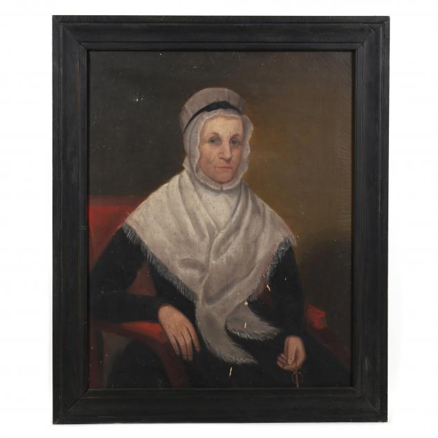 american-folk-art-portrait-of-a-seated-woman-with-spectacles