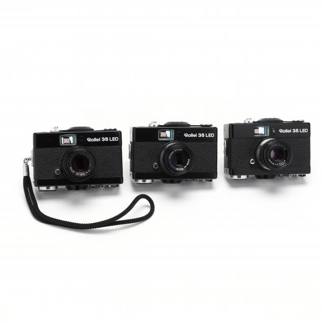 three-rollei-35-led-compact-35mm-film-cameras