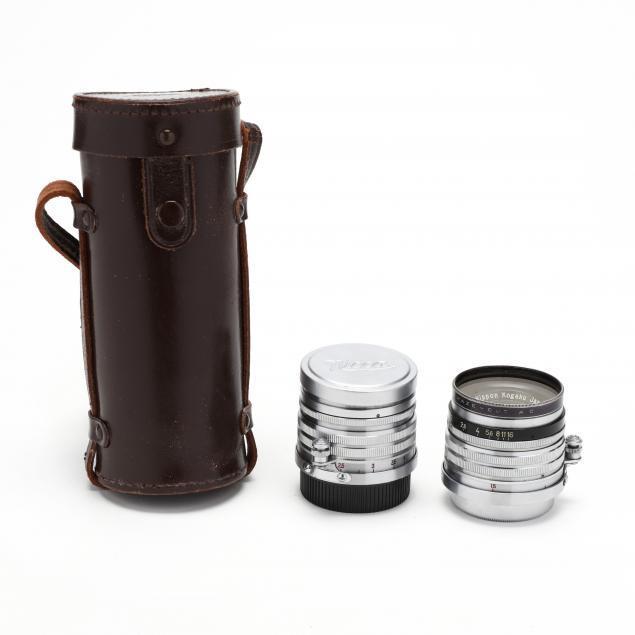 two-nippon-kogaku-nikkor-h-c-5cm-50mm-f-2-lenses-with-walz-filters