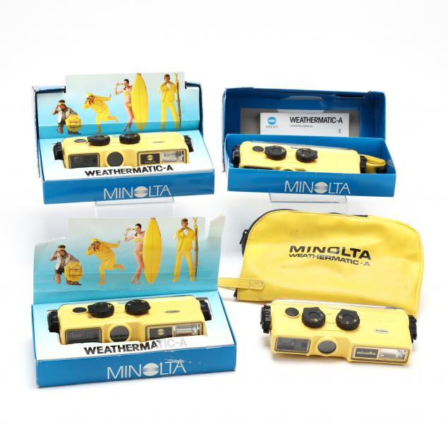 four-vintage-minolta-weathermatic-a-underwater-and-all-weather-film-cameras