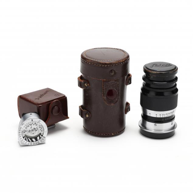 leica-leitz-wetzlar-elmar-9cm-f4-90mm-lens-and-metraphot-2-lightmeter