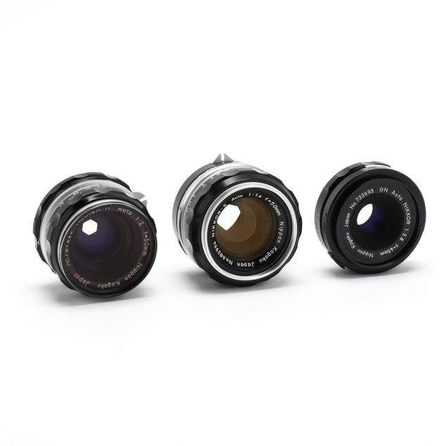 three-nikkor-nippon-kogaku-camera-lenses