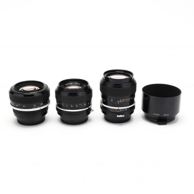 three-nikon-nikkor-lenses