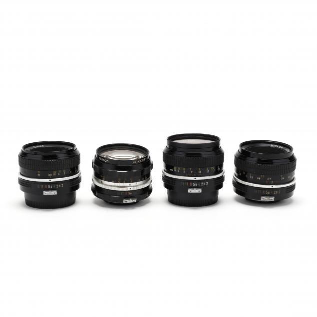 four-nikon-nikkor-camera-lenses