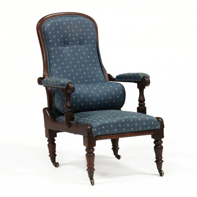 antique-english-mahogany-campaign-armchair