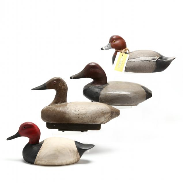four-unsigned-painted-wooden-decoys