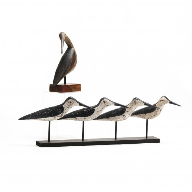 five-carved-and-painted-wooden-shorebirds
