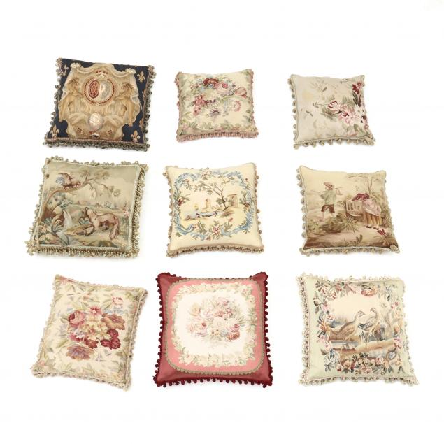 nine-aubusson-topped-throw-pillows