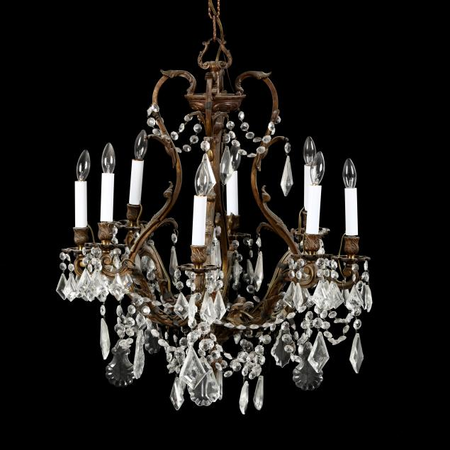 rococo-style-brass-and-crystal-chandelier