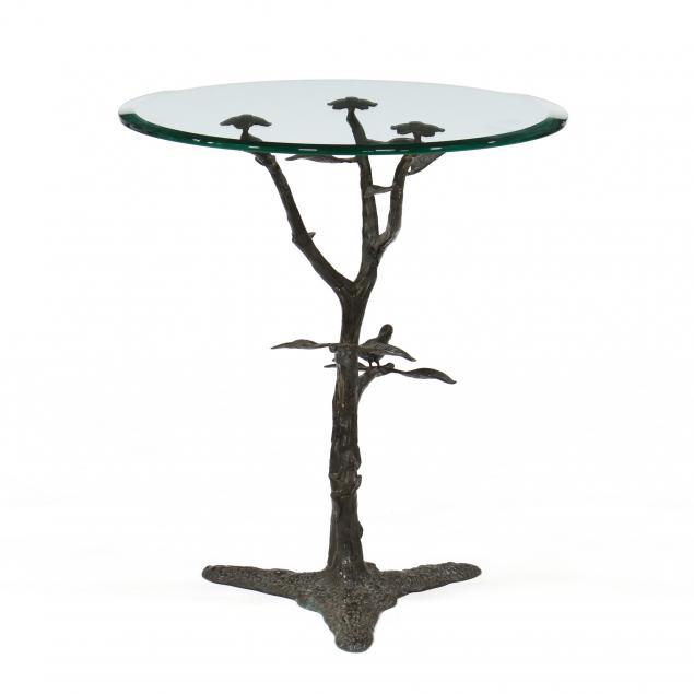 faux-bois-side-table