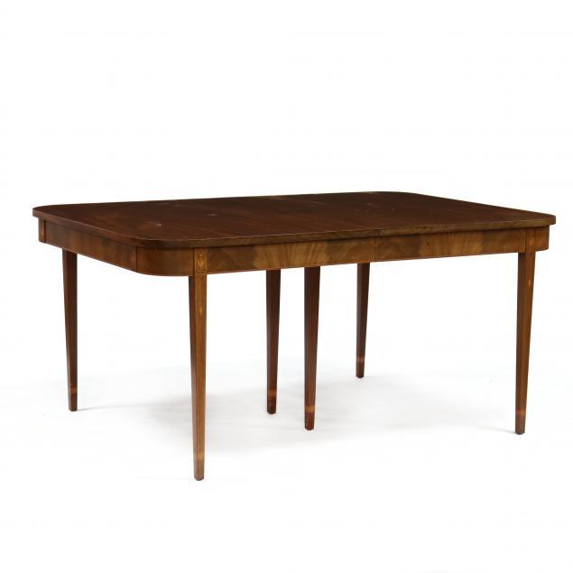 hepplewhite-style-inlaid-mahogany-dining-table