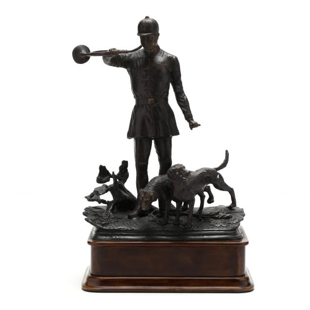bronze-sculpture-of-a-fox-hunt