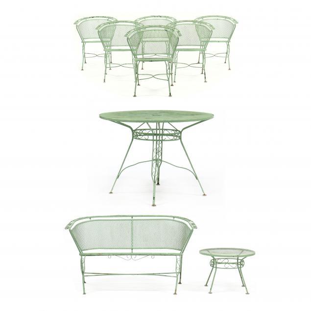 john-salterini-italian-1928-1953-nine-piece-iron-outdoor-furniture-set