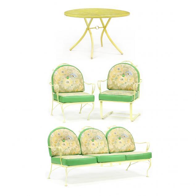 i-meadowcraft-i-six-piece-iron-furniture-patio-set