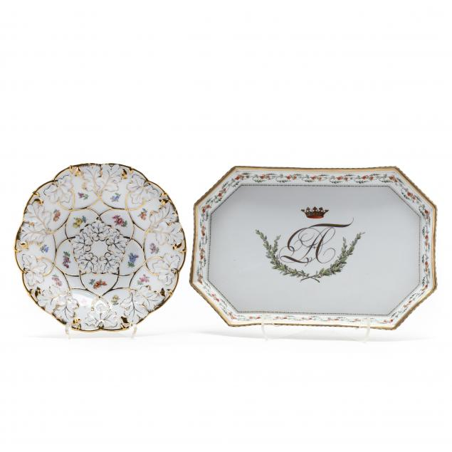 two-meissen-display-pieces