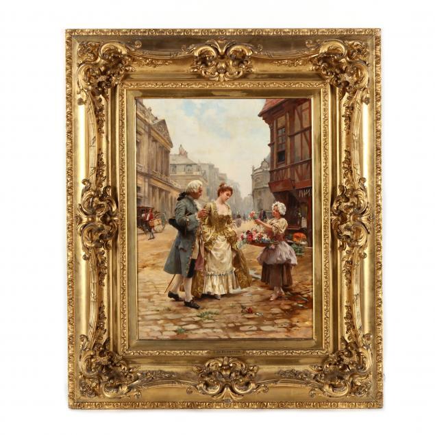 louis-marie-de-schryver-french-1862-1942-i-flower-girl-old-paris-i