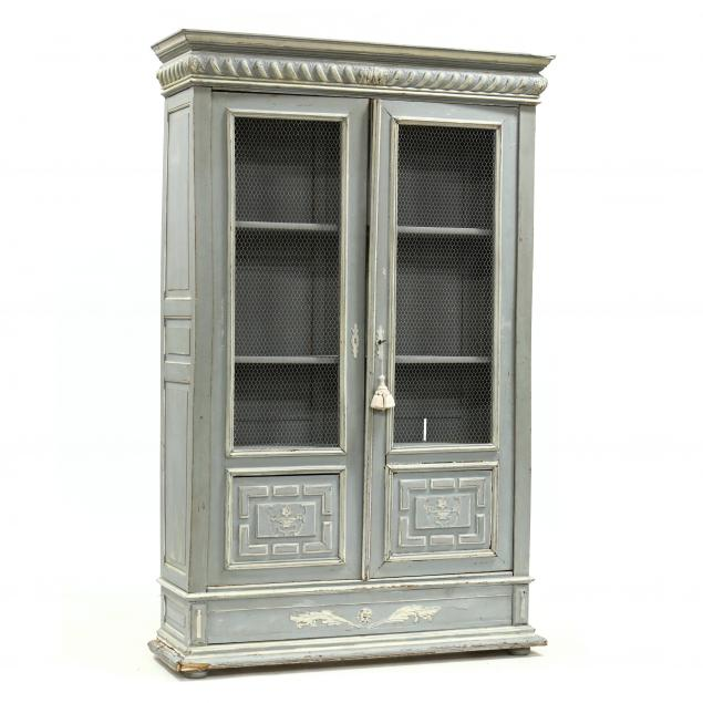 french-provincial-carved-and-painted-armoire