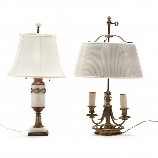 two-antique-table-lamps