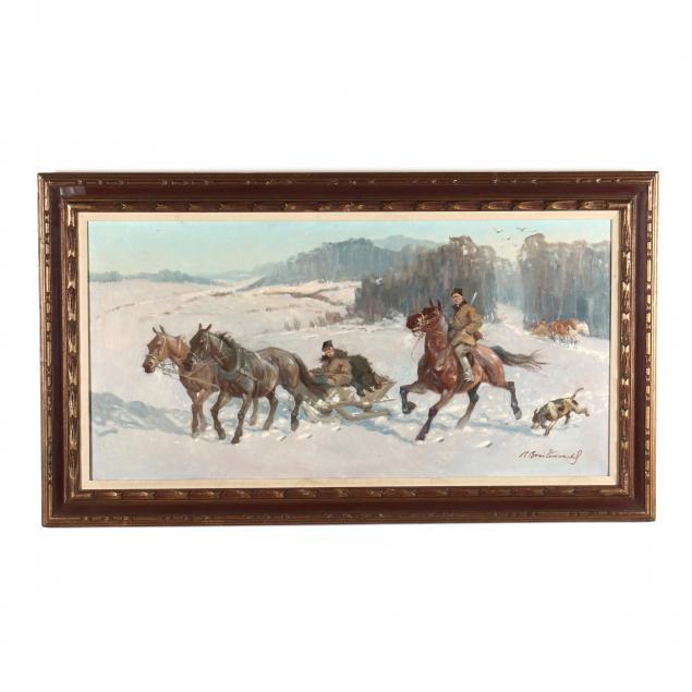 roman-breitenwald-polish-1911-1985-cossacks-in-a-winter-landscape
