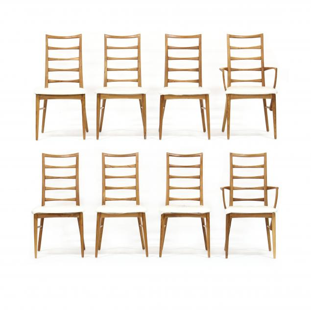set-of-eight-teak-modern-ladder-back-dining-chairs