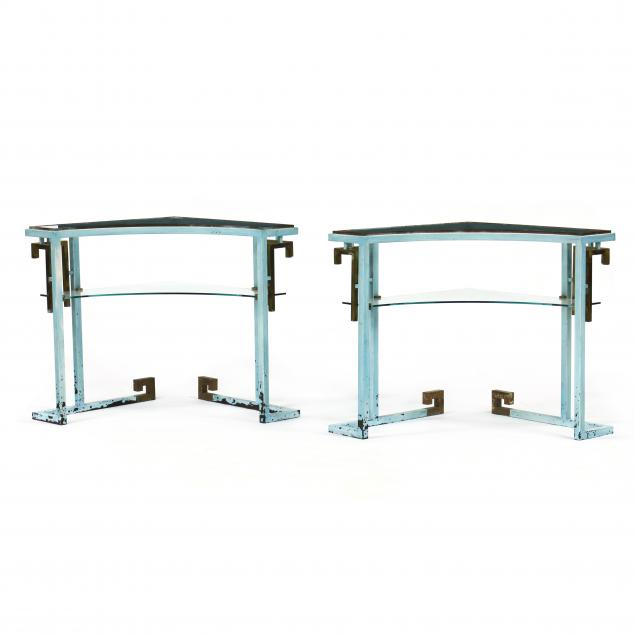 pair-of-hollywood-regency-metal-and-glass-corner-stands