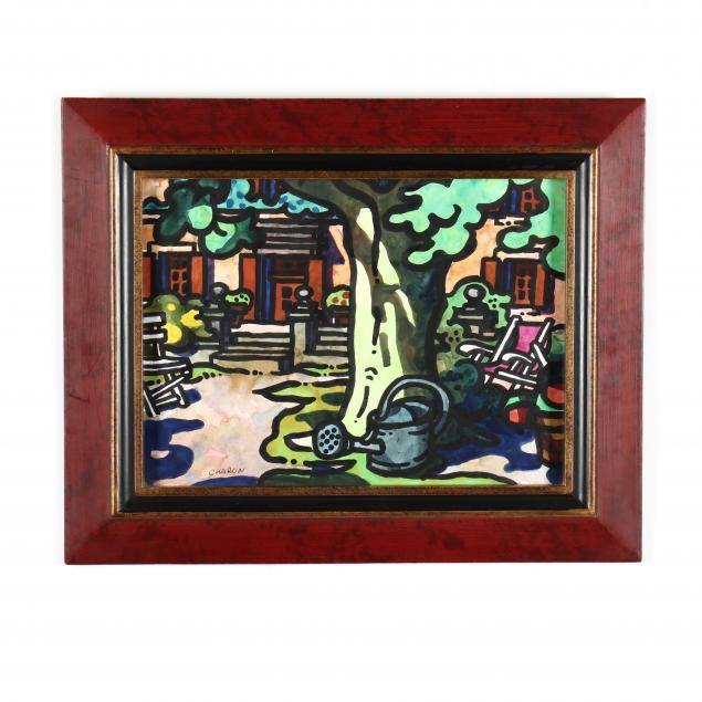 guy-charon-french-born-1927-patio-scene