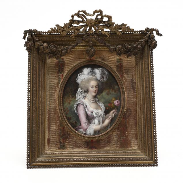 continental-portrait-miniature-of-a-lady