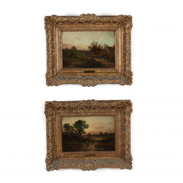 j-harris-english-19th-century-a-pair-of-rural-scenes-at-the-gloaming