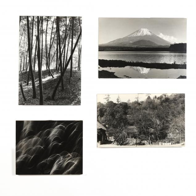 four-vintage-japanese-photographs-mounted-on-board