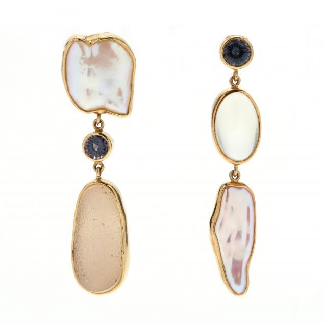 18kt-gold-and-gem-set-dangle-earrings