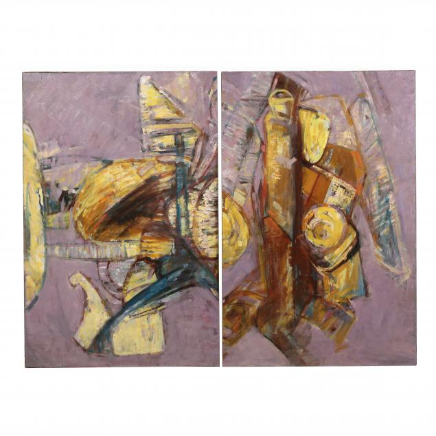 abstract-expressionist-diptych